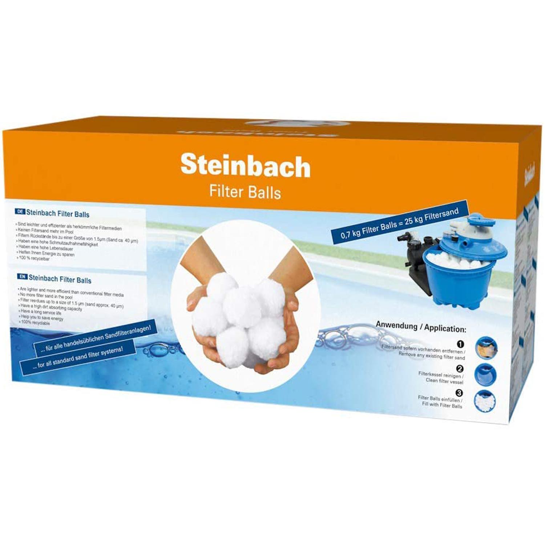 Steinbach Filter Balls für Swimming Pool Sandfilteranlagen (alternativ zu 25 kg Quarzsand) 40050
