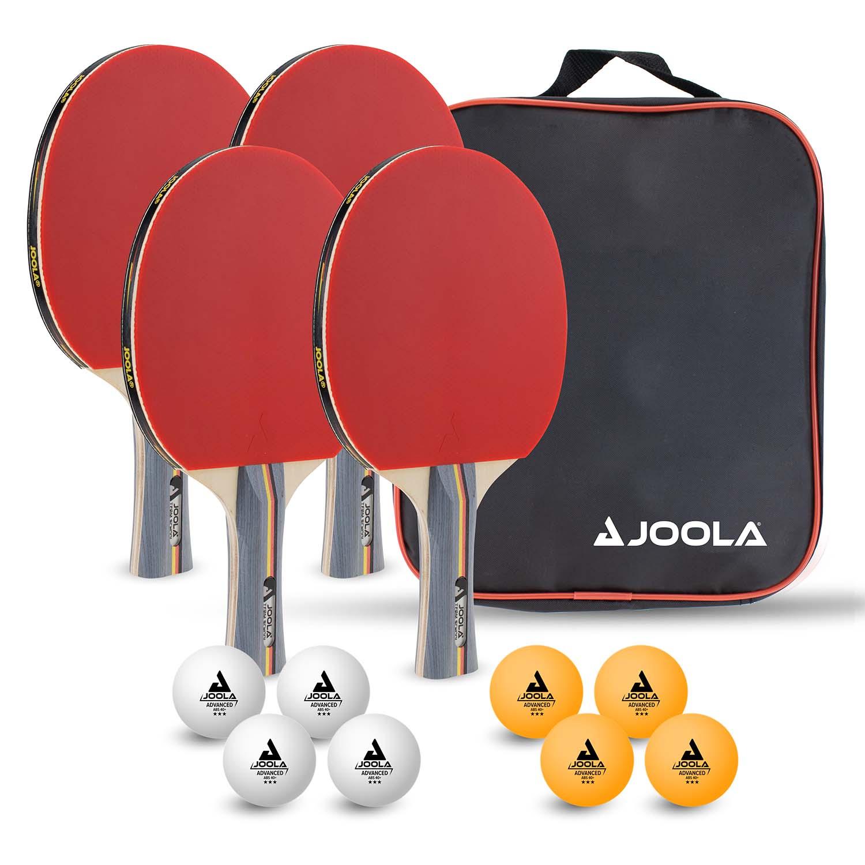 """Joola Tischtennis Schlägerset """"Team School"""" mit 4 Schlägern und 8 Bällen 54825"""