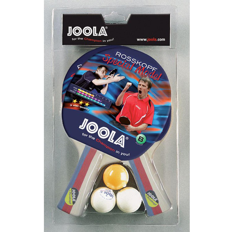 """Joola Tischtennis-Set """"Rosskopf Spezial"""" mit 2 Schlägern und 3 Bällen 54805"""