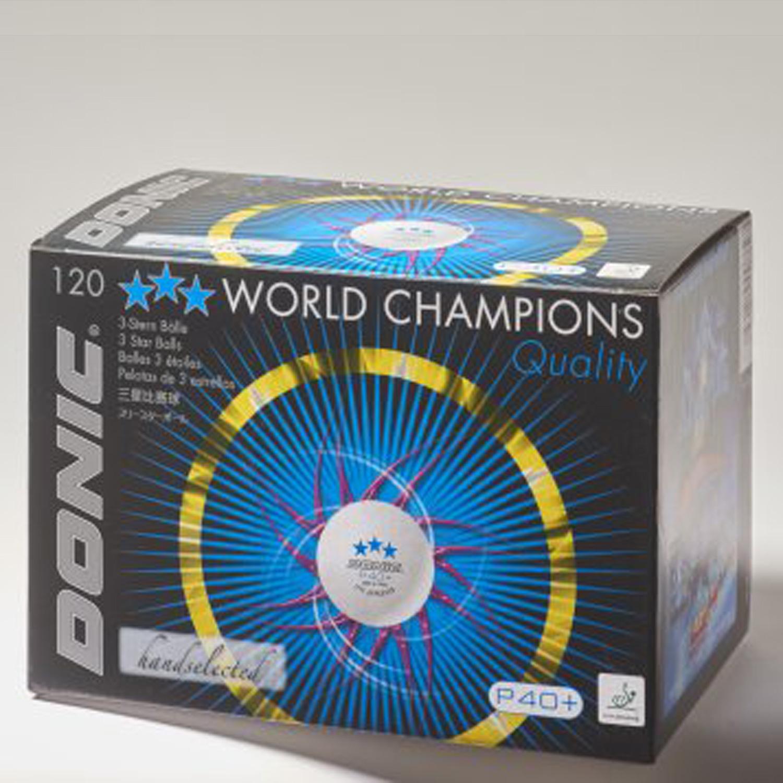"""Donic Tischtennisbälle """"Coach P40+ ***"""" - 120 Stück 550242120"""