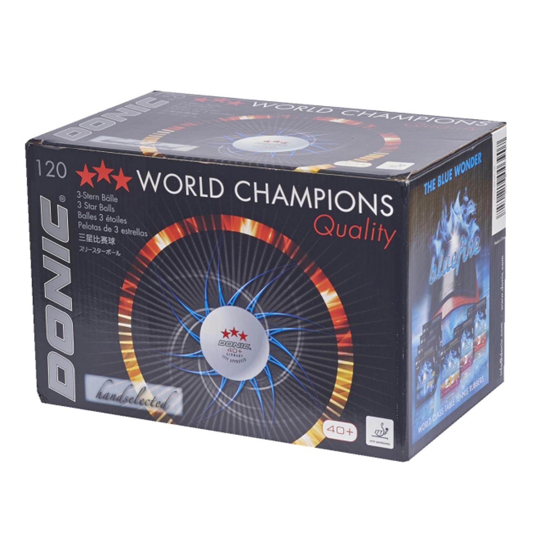 """Tischtennisbälle """"DONIC 40+ ***"""", ITTF, 120 Stück"""