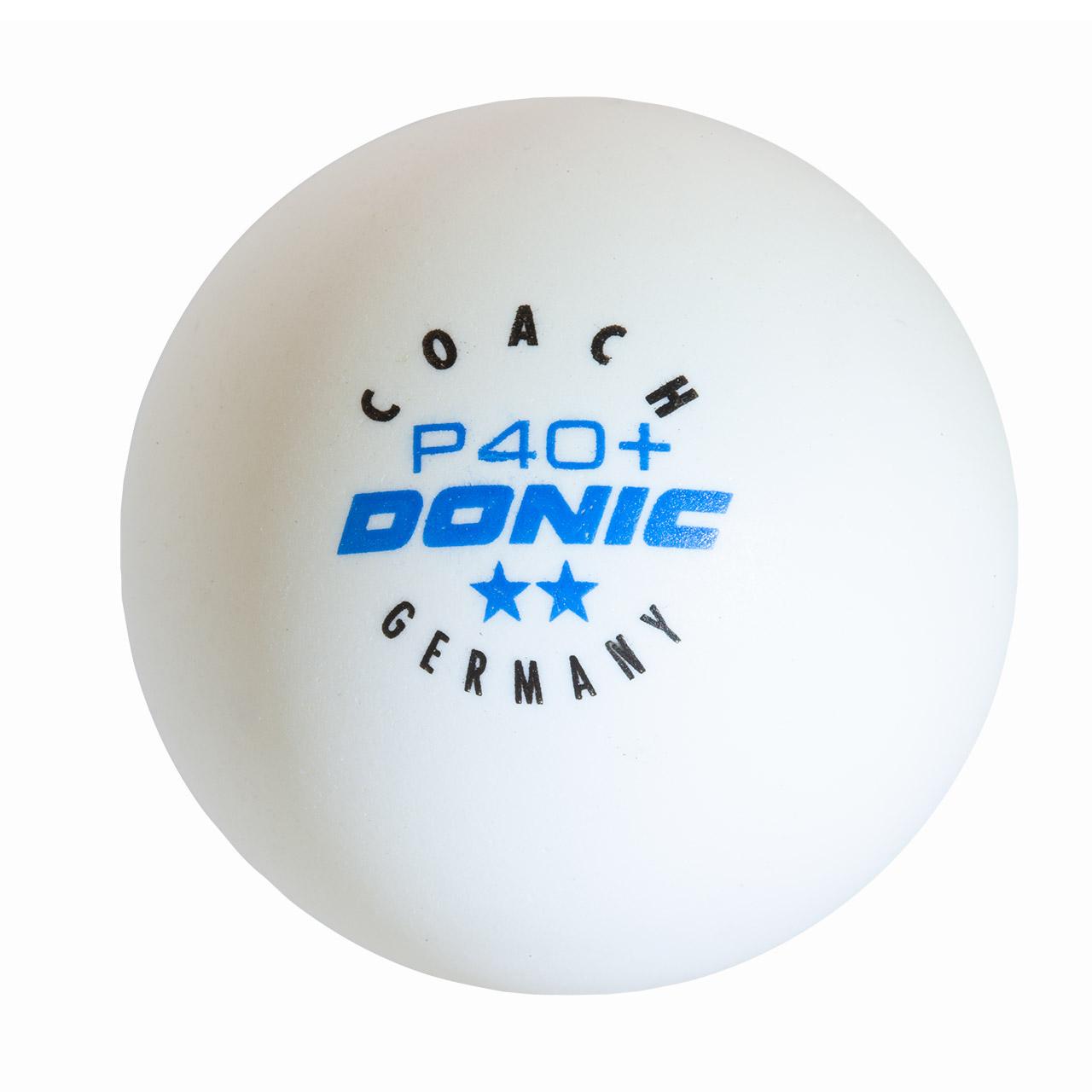 """Donic Tischtennisbälle """"Coach P40+ **"""" - 120 Stück 5502712"""