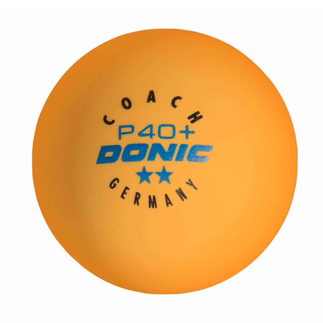 """Donic Tischtennisbälle """"Coach P40+ **"""" - 120 Stück 5502721"""