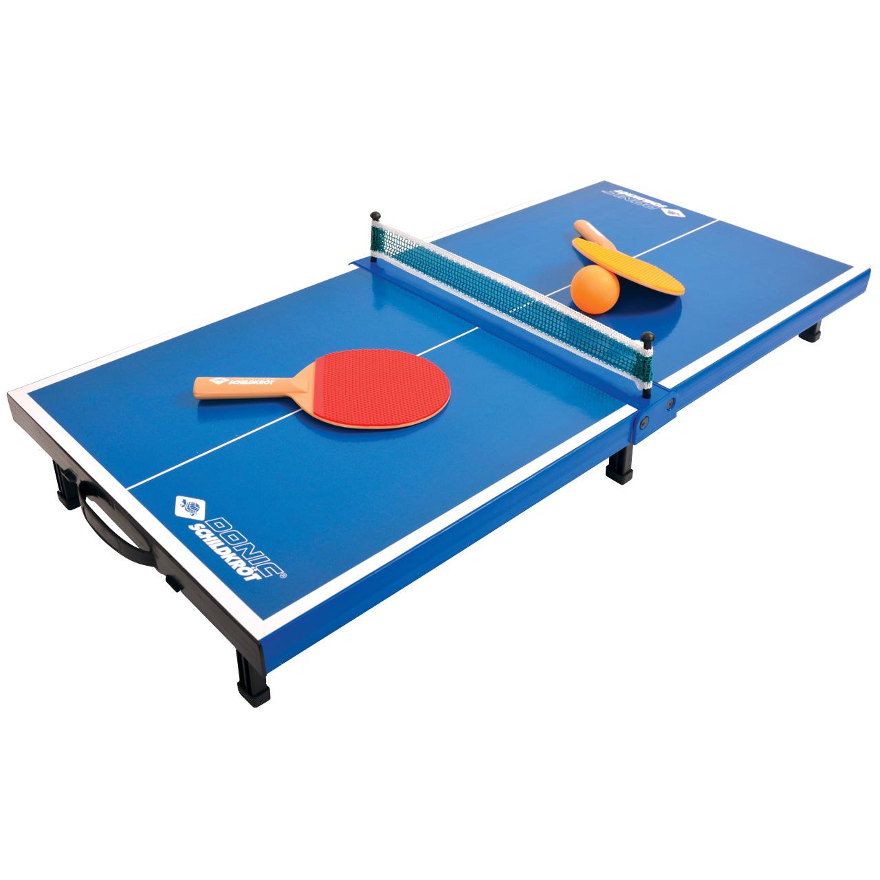 Donic Tischtennis-Set aus Mini-Tischtennistischplatte, 2 Schlägern und 1 Ball 710295
