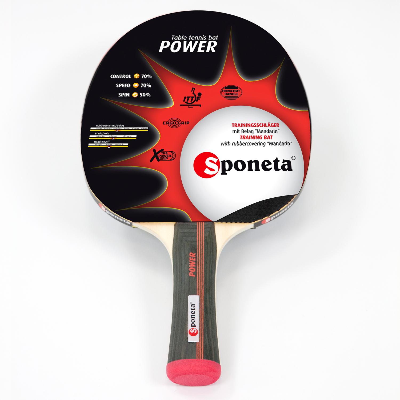 """Sponeta Tischtennis-Schläger """"Power"""" 199.132"""
